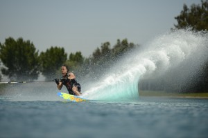 Final nighttime competitions with spectacular lighted jumps and courses at Orlando Extreme Watersports Fest October 19 at Lake Ivanhoe